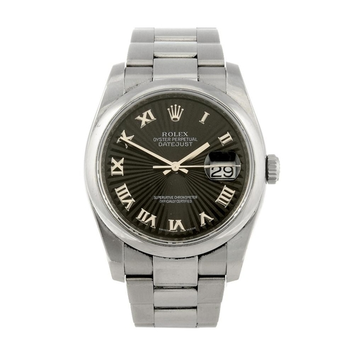1438 - (401759-1-A) ROLEX - a gentleman's stainless steel Oyster Perpetual Datejust bracelet watch. Referen...