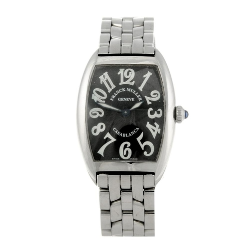 1439 - (401794-1-A) FRANCK MULLER - a lady's stainless steel Casablanca Cintree Curvex bracelet watch. Refe...