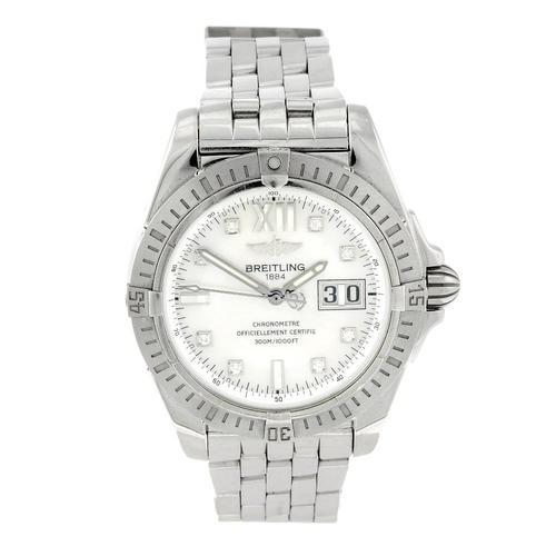 1441 - (401817-4-A) BREITLING - a gentleman's stainless steel Windrider Cockpit bracelet watch. Reference A...