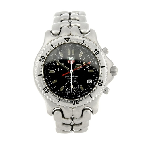 1442 - (401832-1-A) TAG HEUER - a gentleman's stainless steel S/el chronograph bracelet watch. Reference CG...