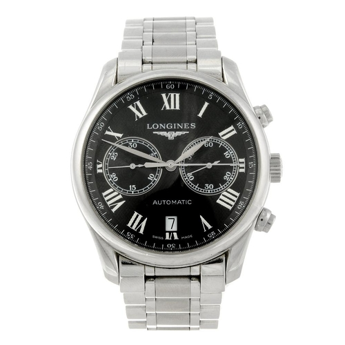 1443 - (401837-1-A) LONGINES - a gentleman's stainless steel Master Collection chronograph bracelet watch. ...