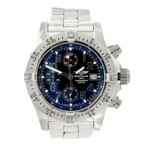 1445 - (401974-1-A) BREITLING - a gentleman's stainless steel Avenger Skyland chronograph bracelet watch. R...