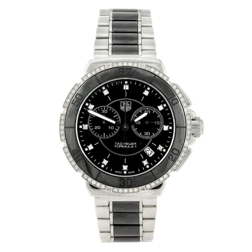 1450 - (546732-1-A) TAG HEUER - a gentleman's stainless steel Formula 1 chronograph bracelet watch. Referen...