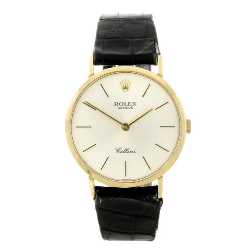 1451 - (546914-2-A) ROLEX - a gentleman's 18ct yellow gold Cellini wrist watch. Reference 4112, numbered 33...