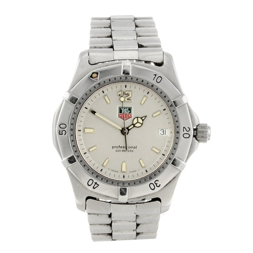 1454 - (547369-1-A) TAG HEUER - a gentleman's stainless steel 2000 Series bracelet watch. Reference WK1112,...