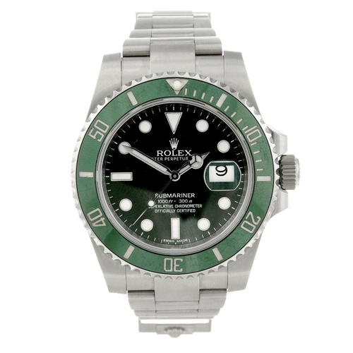 1459 - (548257-1-A) ROLEX - a gentleman's stainless steel Oyster Perpetual Date Submariner bracelet watch. ...
