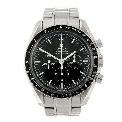 1460 - (549972-1-A) OMEGA - a gentleman's stainless steel Speedmaster Professional bracelet watch. Referenc...