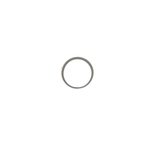 395 - An 18ct gold diamond half-circle eternity ring. The brilliant-cut diamond line, with plain half-band...