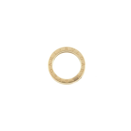 404 - BULGARI - a 'B.Zero1' band ring. The plain band, with raised border and Bulgari logo sides. Signed B...