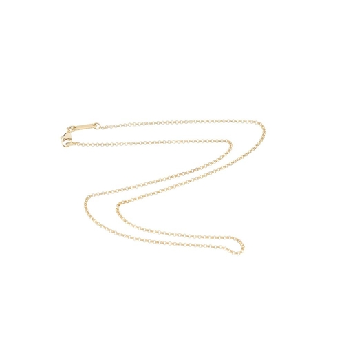 408 - CHOPARD - an 18ct gold necklace. Designed as a belcher-link chain. Signed Chopard. Swiss convention ...