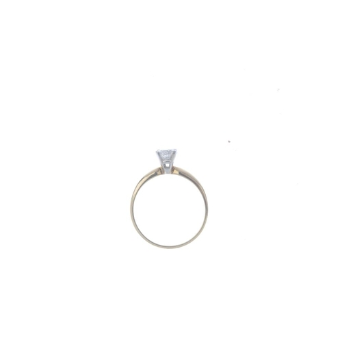 578 - A 14ct gold diamond single-stone ring. The brilliant-cut diamond, with tapered band. Estimated diamo...