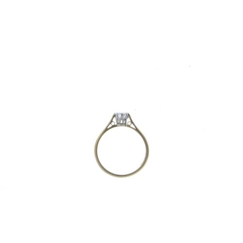 709 - An 18ct gold diamond single-stone ring. The brilliant-cut diamond, with tapered band. Estimated diam...