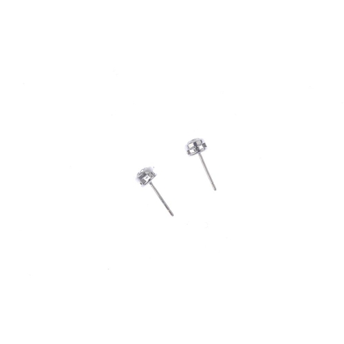 791 - A pair of diamond stud earrings. Estimated total diamond weight 0.70ct, I-K colour, P1 clarity. Weig...