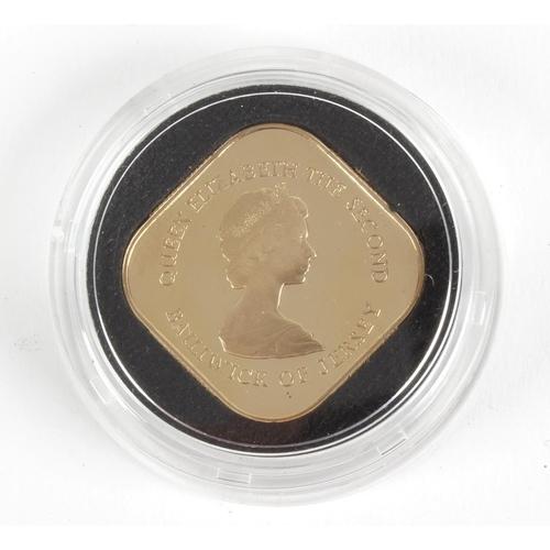 105 - Elizabeth II, Bailiwick of Jersey, Proof One-Pound Bicentenary of the Battle of Jersey 1781 - 1981, ...