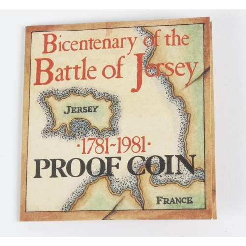 105 - Elizabeth II, Bailiwick of Jersey, Proof One-Pound Bicentenary of the Battle of Jersey 1781 - 1981, ...