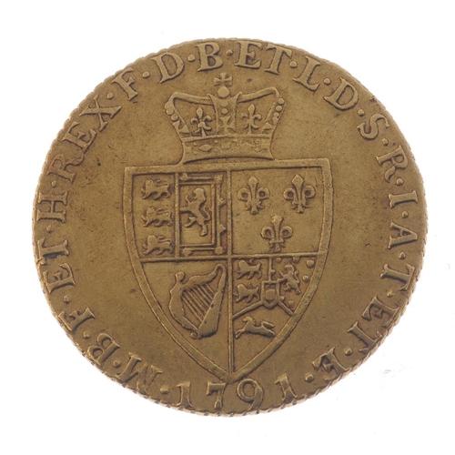 11 - George III, Guinea 1791. Fine.  <br>Fine.  <br>...