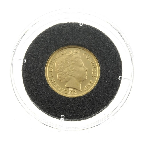 118 - Guernsey, Elizabeth II, gold £5 1998, 24ct., wt. 1/25oz. As issued.  <br>As issued.  <br>...