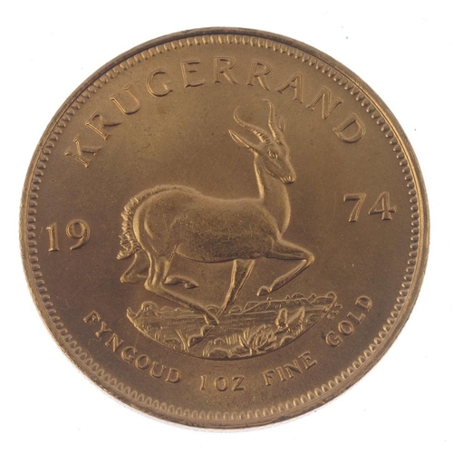 151 - South Africa, Krugerrand 1974. Good extremely fine.  <br>Good extremely fine.  <br>...