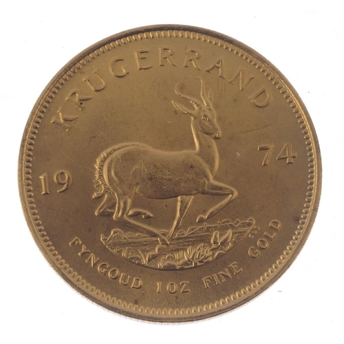 152 - South Africa, Krugerrand 1974. Good extremely fine.  <br>Good extremely fine.  <br>...