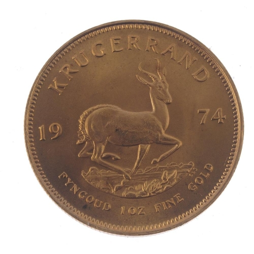 153 - South Africa, Krugerrand 1974. Good extremely fine.  <br>Good extremely fine.  <br>...