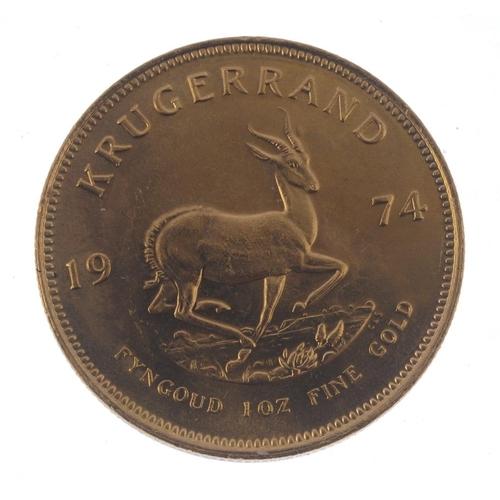 154 - South Africa, Krugerrand 1974. Good extremely fine.  <br>Good extremely fine.  <br>...