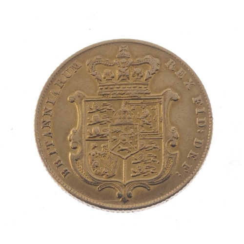 16 - George IV, Sovereign 1826 (S 3801). Almost very fine.  <br>Almost very fine.  <br>...