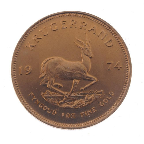 160 - South Africa, Krugerrand 1974. Good extremely fine.  <br>South Africa, Krugerrand 1974. Good extreme...