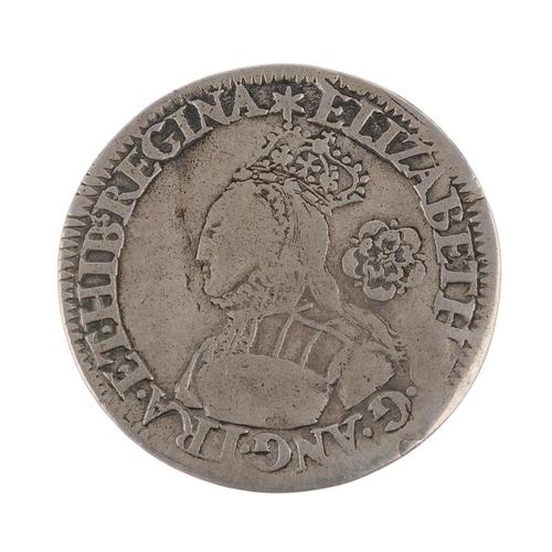 167 - Elizabeth I milled Sixpence, i.m. star. Fine, creased.  <br>Fine, creased.  <br>...