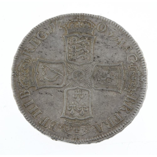 173 - Anne, Halfcrown 1703 Tertio, VIGO below bust (S 3580). Very fine, reverse better.  <br>Very fine, re...