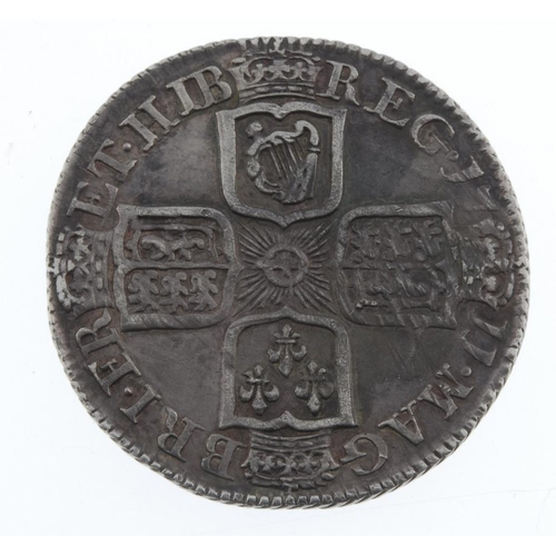 174 - Anne, Shilling 1711, plain angles (S 3618). Very fine.  <br>Very fine.  <br>...