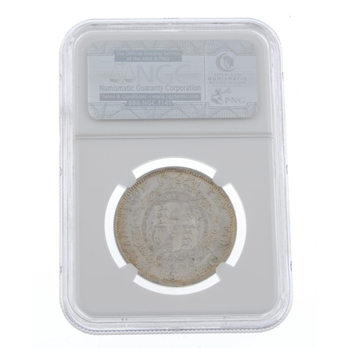 176 - George III, Halfcrown 1817 (S 3788). Good extremely fine, in NGC holder graded MS64.  <br>Good extre...