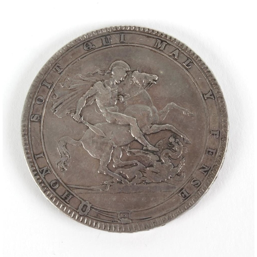 177 - George III, Crown 1819 LIX (S 3787). Good fine.  <br>Good fine.  <br>...