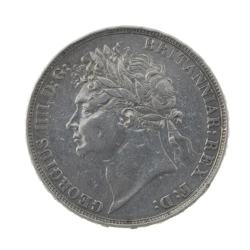 183 - George IV, Crown 1822 Secundo (S 3805). About very fine, some surface marks.  <br>About very fine, s...