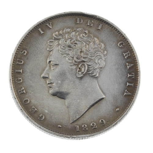 185 - George IV, Halfcrown 1829 (S 3809). Good very fine, obverse hairlines.  <br>Good very fine, obverse ...