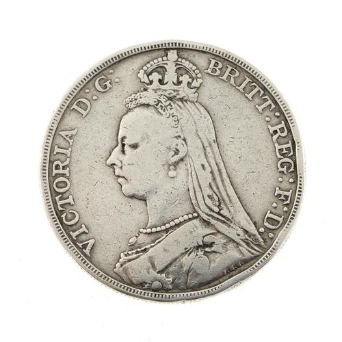 189 - Victoria, Crown 1892. Fair, edge bruises.  <br>Fair, edge bruises.  <br>...