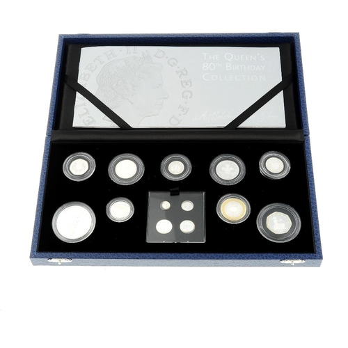198 - Elizabeth II, The Queen's 80th Birthday Collection 2006, proof silver set of 13 coins, comprising si...