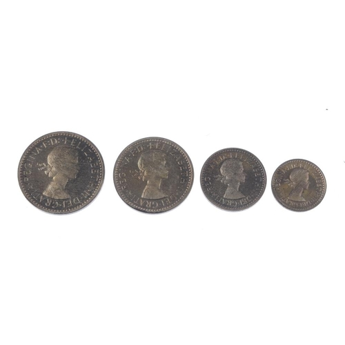 199 - Elizabeth II, Maundy Set 1956, in Royal Mint box of issue. Extremely fine, lightly toned. (4).  <br>...