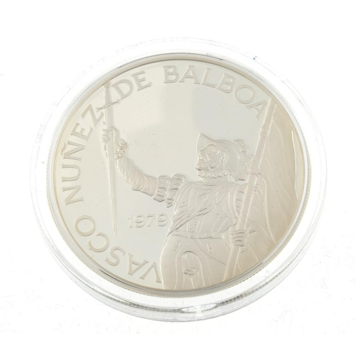 202 - Panama, sterling silver 20 Balboas (2), 1974, 1979, by the Franklin Mint and in cases of issue with ...
