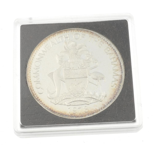 203 - Bahamas, Prince Charles 10 Dollars Proof Silver coin 1978 (3), i, Panama, Coinage of the Republic of...