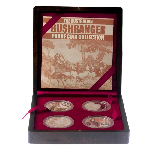206 - Cook Islands, The Australian Bushranger Collection 2003, four fine silver 2-Dollars, each 2oz, issue...