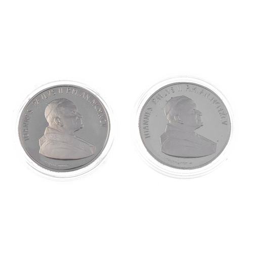 207 - Vatican, John Paul II, proof silver 10000-Lire 1995 (2), cased with certificate, Congo 10-Francs 200...