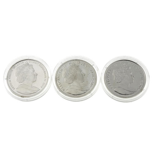 211 - Elizabeth II, Crownsize sterling silver coins of the world (9), proof commemorative issues 2005-2006...
