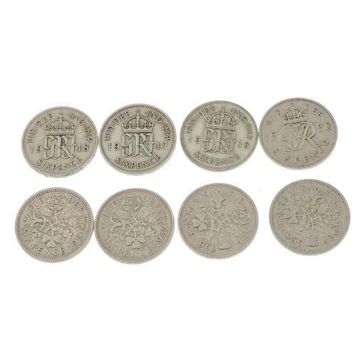 218 - A large quantity of modern commemorative Crowns (28), further quantity of George V and later Sixpenc...