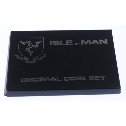 219 - Isle of Man, sterling silver decimal set 1976, Ireland, first decimal coin sets (2), Great Britain, ...
