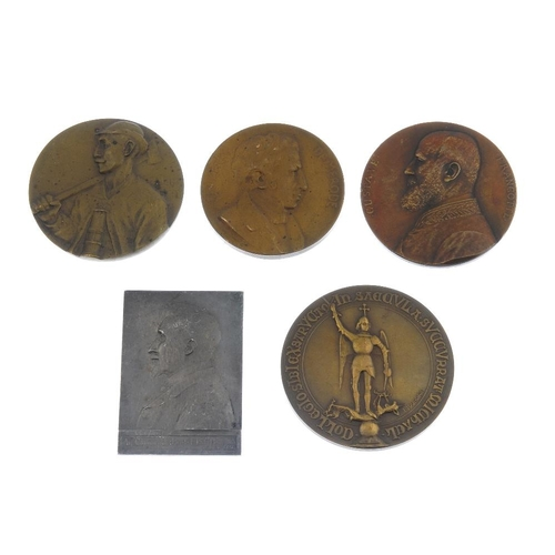 225 - Belgium, Commemorative medals (27) in bronze, some silvered, mostly early 20th century, a variety. G...