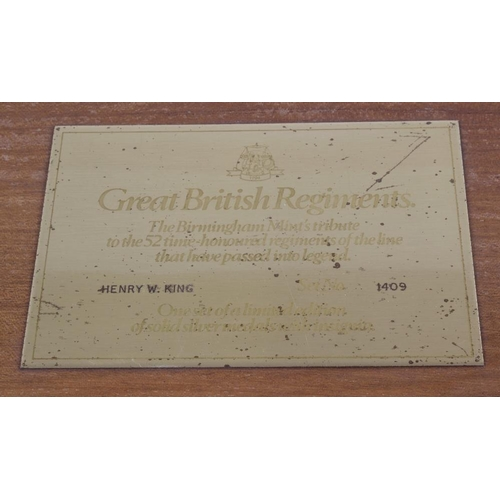 227 - Great British Regiments, Birmingham Mint's tribute to the 52 time-honoured regiments of the line tha...