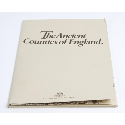 228 - The Birmingham Mint, Ancient Counties of England set of forty silver medallions, made in commemorati...