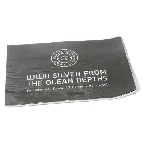 235 - A fine silver ingot made from silver recovered from the wreck of the SS Gairsoppa, 10oz, with later ...