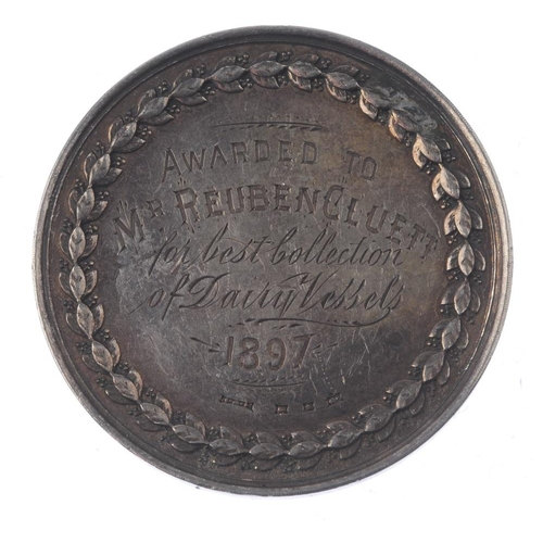 239 - Agricultural silver medals (3), Wirral & Birkenhead Agricultural Society, farm animals and crops aro...