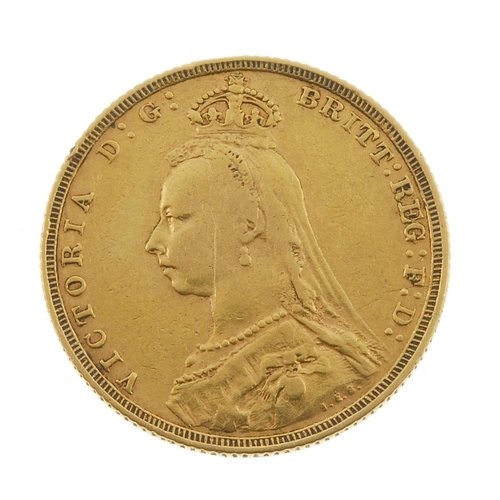 24 - Victorian, Sovereign 1888, jubilee head. Fine. <br>Fine. <br>...
